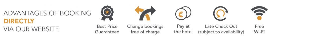 Advantages of booking directly via our website, book direct and save